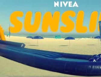 Nivea applique la crème solaire grâce à… un toboggan
