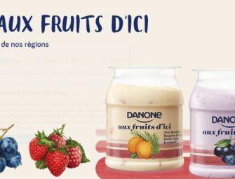 Le lancement discret de «Danone aux fruits d'ici»