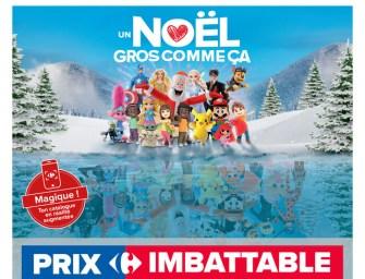 Carrefour continue de miser sur la réalité augmentée pour son catalogue de Noël.