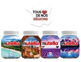 Nutella déclare sa flamme aux régions de France