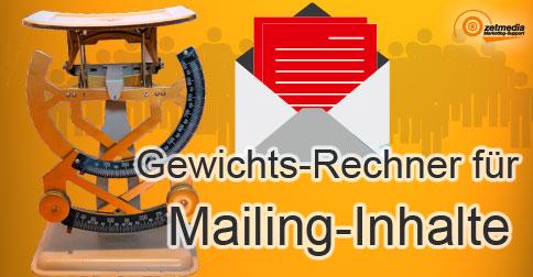 Gewichts-Rechner für Mailing-Inhalte