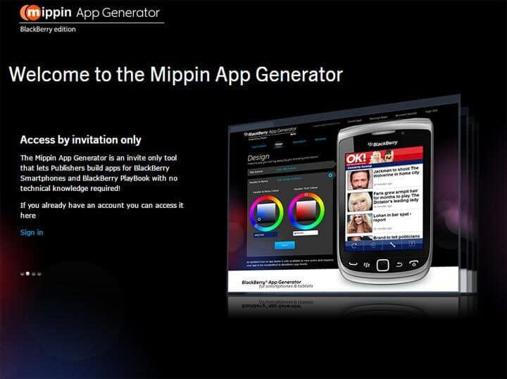 Mippin App Generator
