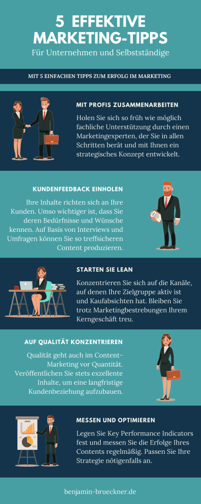 Infografik: 5 Effektive Marketing-Tipps