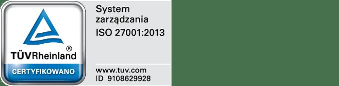 Znak certyfikacji ISO 27001 - i360 Sp. z o.o.
