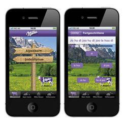 Milka entona cantos tiroleses en su nueva aplicación para el iPhone