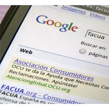 Facua y la OCU, enfrentadas por los enlaces patrocinados de Google