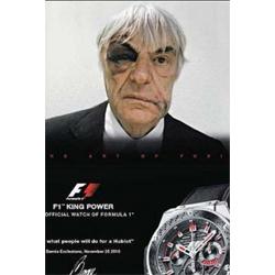 Ecclestone posa para un anuncio de Hublot con el ojo morado