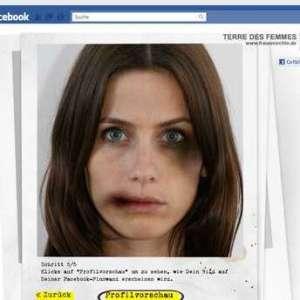 Facebook te muestra cómo sería tu cara si fueras una mujer maltratada
