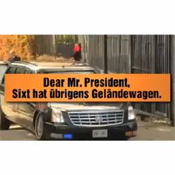 Sixt se ríe de la avería del coche de Obama en Dublín en una nueva campaña publicitaria