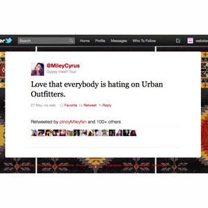 Boicot contra la firma de moda Urban Outfitters en Twitter