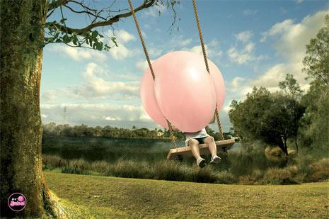 40 anuncios de chicles explosivamente creativos