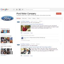 Ford echa a rodar en Google+