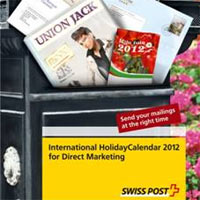 Swiss Post lanza el International Holiday Calendar 2012