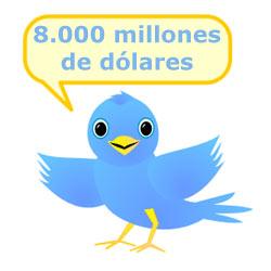 Los números de Twitter asustan: 8.000 millones de dólares de valuación y 250 millones de tweets al día