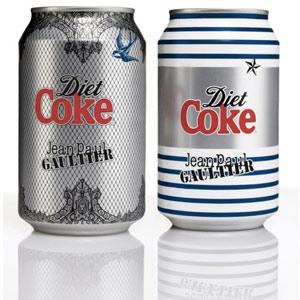 Las latas de Coca-Cola también se visten con diseños exclusivos de Jean Paul Gaultier