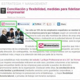 """""""Womenízalo"""", el botón social de Womenalia.com"""