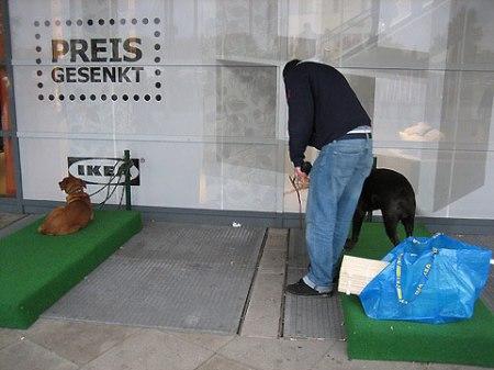 """Ikea lleva la experiencia de compra hasta el mundo canino creando un """"parking"""" para perros"""
