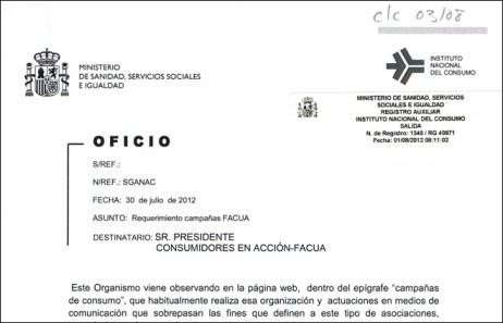 """FACUA podría desaparecer por """"molestar"""" al Gobierno con sus campañas contra los recortes"""