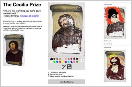 """Un grupo de creativos de BBH Londres convoca el concurso """"The Cecilia Prize"""" para restaurar el Ecce Homo"""
