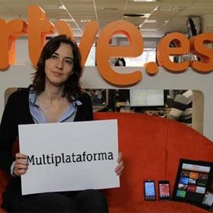 """M. Maicas (RTVE) en #Apps2012: """"Ya no sabemos ver la tele sin el smartphone o la tableta echando humo en la mano"""""""