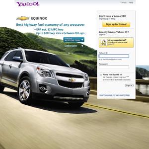 La publicidad prácticamente ha desaparecido de la página de log-in de Yahoo!