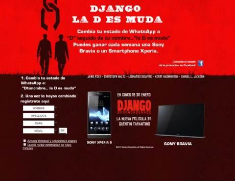 Sony Pictures Releasing de España apuesta por un concurso en WhatsApp para promocionar la nueva película de Quentin Tarantino, Django Desencadenado