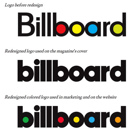 El logotipo de la revista 'Billboard' pasa por chapa y pintura después de casi 50 años