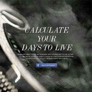 Diesel nos invita a calcular cuántos días nos quedan de vida en su nueva campaña