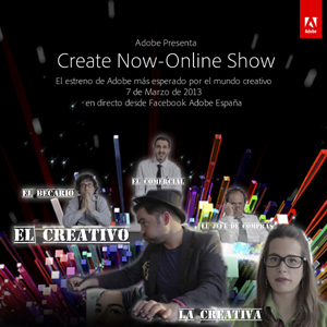 Adobe presenta su primer estreno online #CreateNowES exclusivamente a través de Facebook. @adoberrpp