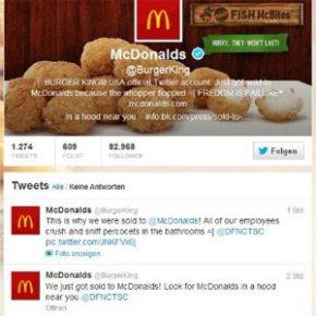 """Los hackers se """"comen"""" el logo de Burger King en Twitter y lo cambian por el de McDonald's"""
