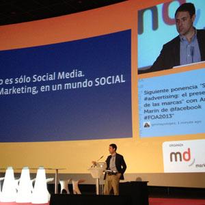 """A. Marín (Facebook) en #FOA2013: """"El presente no va de social media, si no de marketing en el mundo social"""""""