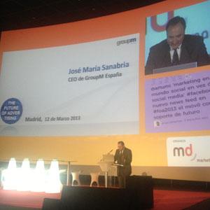 """J.M. Sanabria (GroupM) en #FOA2013: """"Estamos en un mundo donde la publicidad es masiva pero personal"""""""