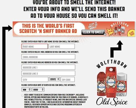 Old Spice se saca de la manga el primer banner que se puede oler, pero ¡cuidado!, hay truco