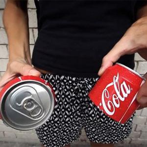 Las latas de Coca-Cola se parten ahora en dos y ¡se pueden compartir!