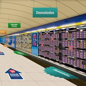 Danone instala un supermercado virtual en la estación madrileña de Callao