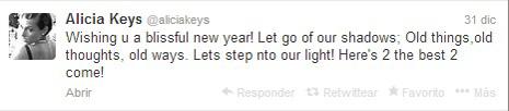 alicia keys tweet año nuevo1