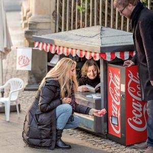 mini quiosco Coca-Cola