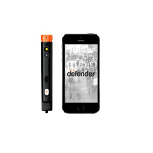 The Defender pepper spray smartphone app