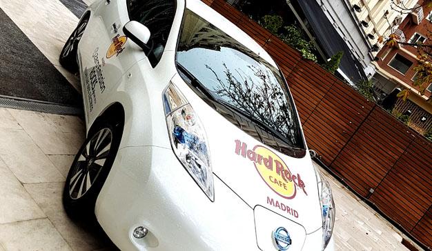 Los clientes de Hard Rock Cafe disfrutaron de una experiencia cero de emisiones con Nissan Leaf