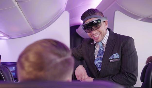 """Air New Zealand imagina un futuro en el que los auxiliares de vuelo """"leen la mente"""" al pasaje"""