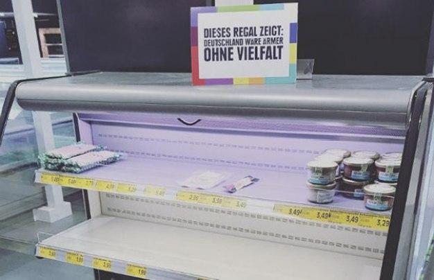 El supermercado Edeka elimina los productos extranjeros para concienciar sobre la xenofobia