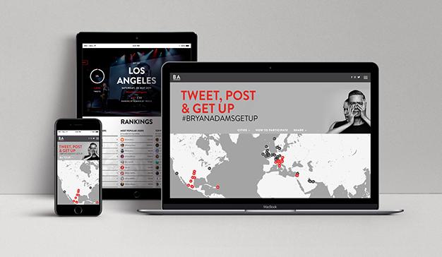 Bryan Adams inicia nueva gira presentando una innovadora plataforma social
