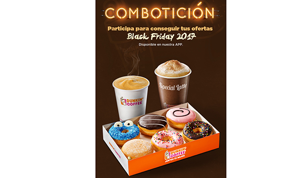 Dunkin' Coffee lanza dos promociones elegidas por los clientes para el Black Friday
