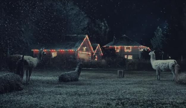 Este delicioso anuncio navideño reemplaza los renos por simpáticas llamas