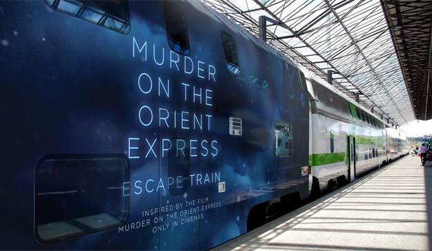 """¿Viajaría en un tren con un asesino a bordo? Esta campaña le propone un juego """"mortal"""""""