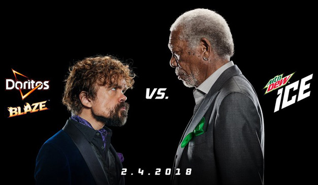 Morgan Freeman y Peter Dinklage se enfrentarán por Mountain Dew y Doritos en la Super Bowl