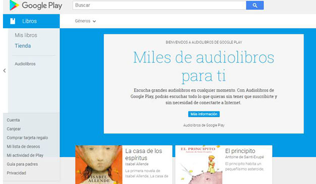 Google crea su propia sección de audiolibros