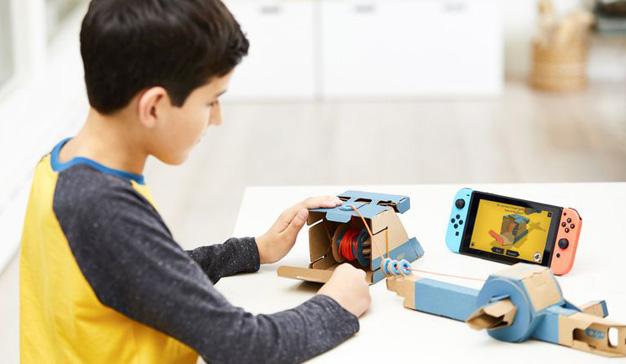 Nintendo Labo integra lo digital y lo físico utilizando solo planchas de cartón