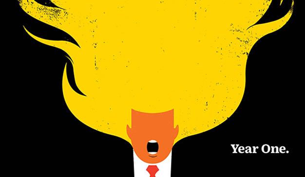 Donald Trump arde en llamas en la nueva portada de Time