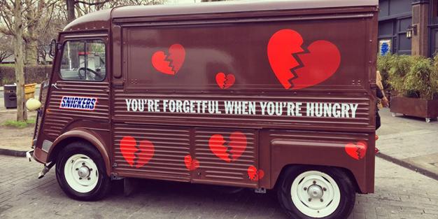Snickers creó el pasado San Valentín en Londres un restaurante pop-up para los olvidadizos